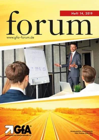Schriftenreihe Forum Jahrgang 2019